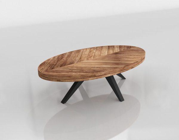 Parq Oval Coffee Table Sleek Modern Furniture