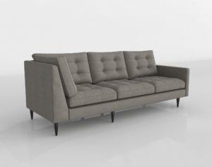 Petrie Midcentury Right Arm Corner Sofa Crate And Barrel