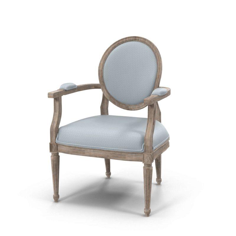 Louis Fabric Back Armchair Wisteria Furniture