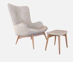 Huggy Mid Century Arm Chair Ottoman Set All Modern