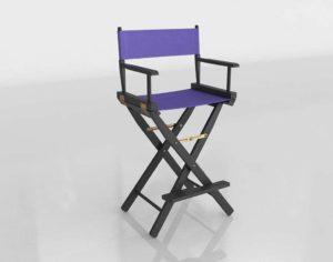 Black Fram Directors Chair Overstock