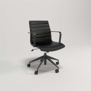 Graham_Black_Office_Chair Crate and Barrel