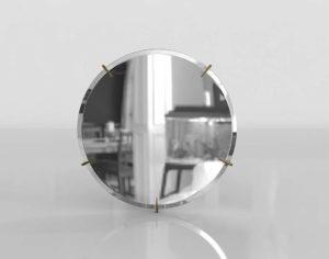 Hawk Round Wall Mirror CB2