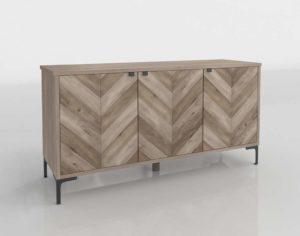 Chevron Wood Storage Cabinet WorldMarket