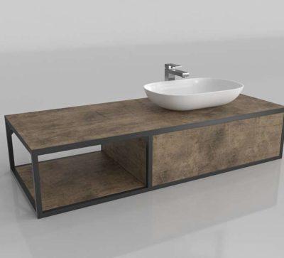 Cabinet With Basin & Faucet Bathroom Muebles De Baño