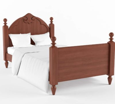Twin Bed 3D Design