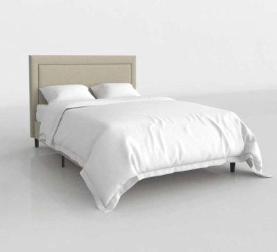 Upholstered Platform Bed Full