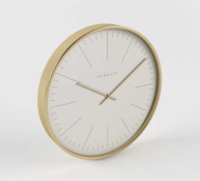 Cb2 Oslo Radial Brushed Brass Wall Clock