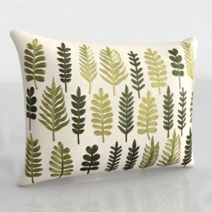 C&B Tilly Leaf 3D Pillow With Feather Down Insert