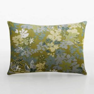 C&B 3D Carly Jacquard Floral Pillow With Feather Down Insert