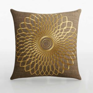 C&B Doyal Medallion Pillow With Down Alternative 3D