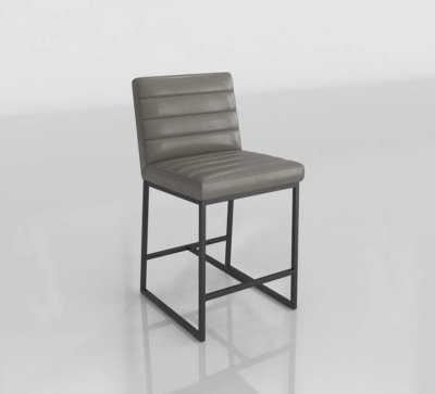 CB Channel Leather Counter 3D Stool