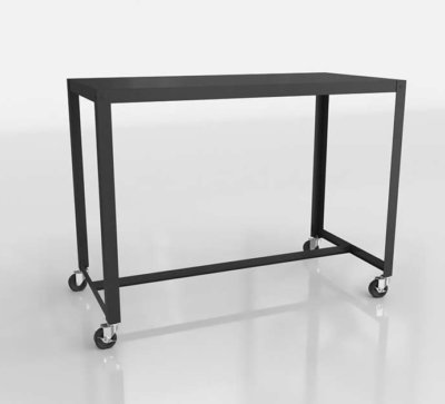 CB2 3D Rolling Table Stand Up Desk