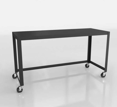 CB2 3D Rolling Console Table